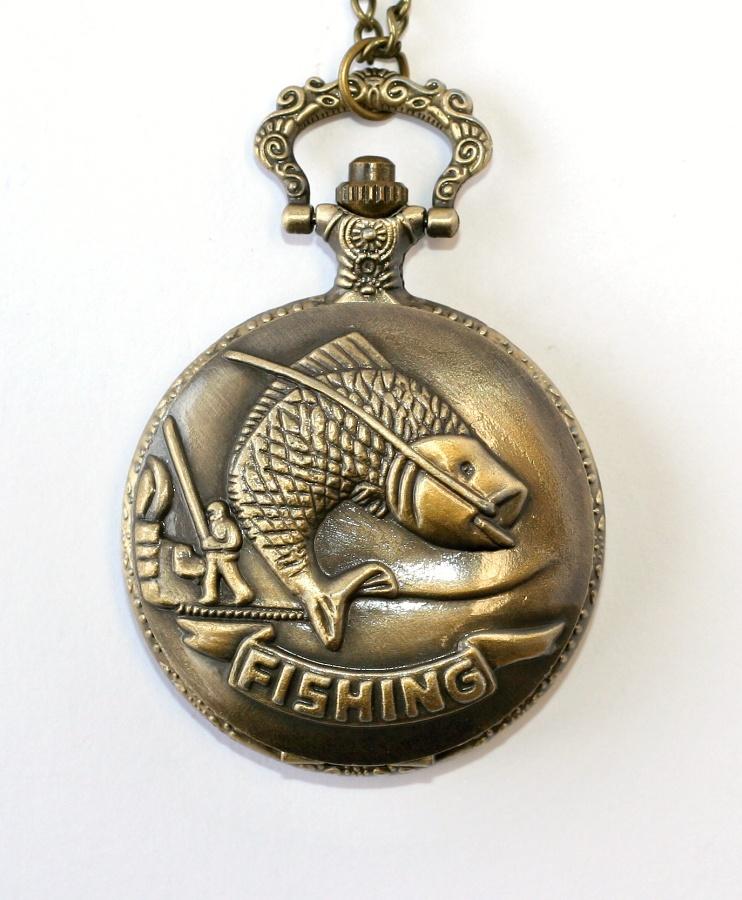 5a6e714bd MR kapesní, otevírací hodinky na řetízku - Kapr, Rybaření, Fishing 1193