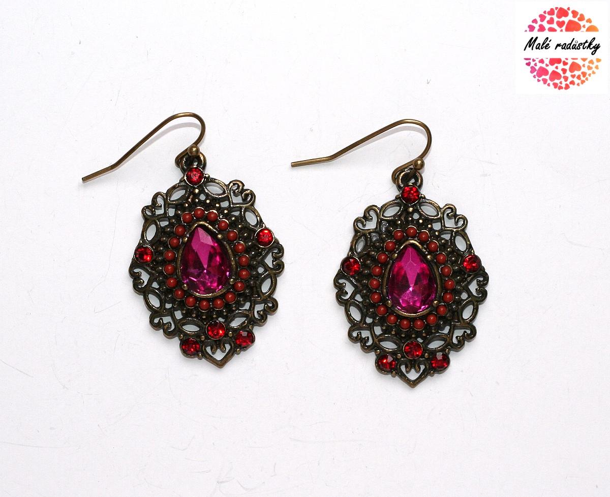 Náušnice Fashion Jewerly - Ethnic rose drops 120
