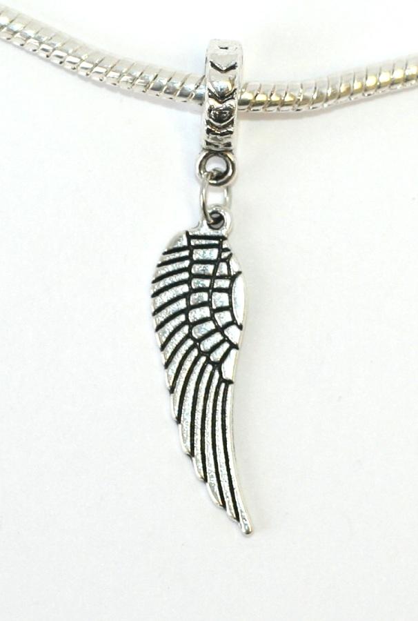 Korálek na náramek Fashion Jewerly - Přívěsek Andělské křídlo 1334 ... f7179a3a58