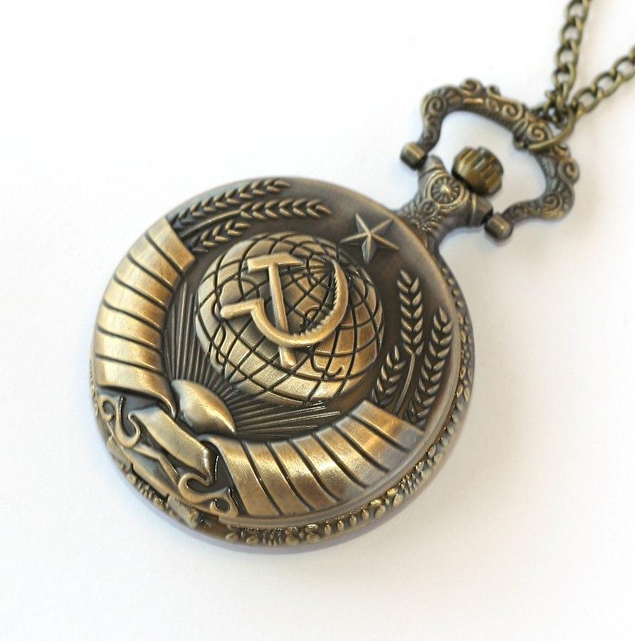 MR otevírací kapesní hodinky na řetízku - Kladivo a srp 7a69812a62