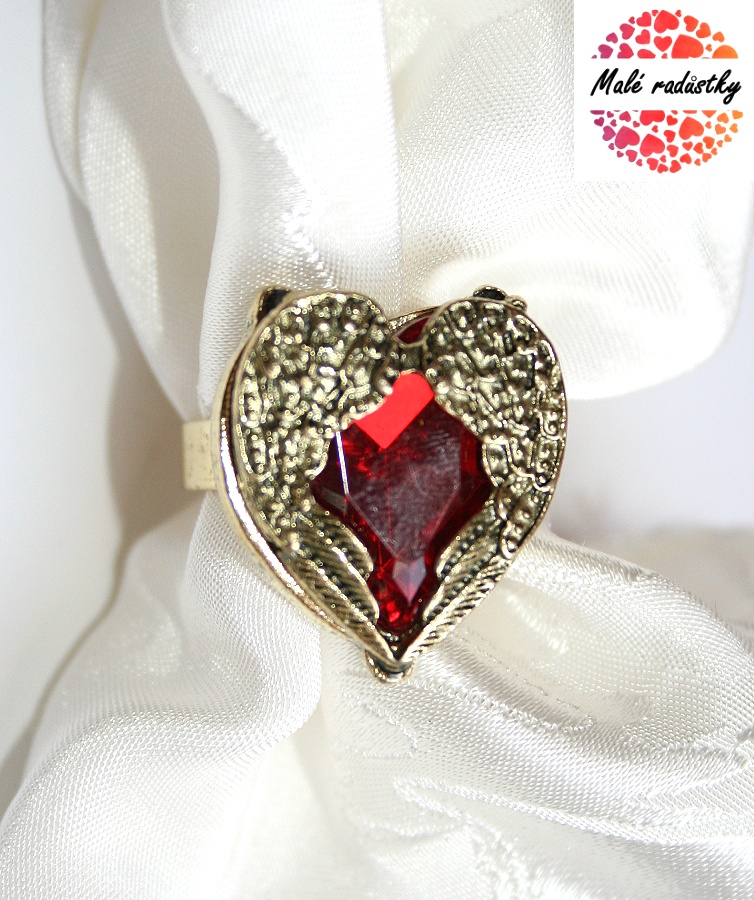 Prsten Fashion Jewerly - Red heart 175
