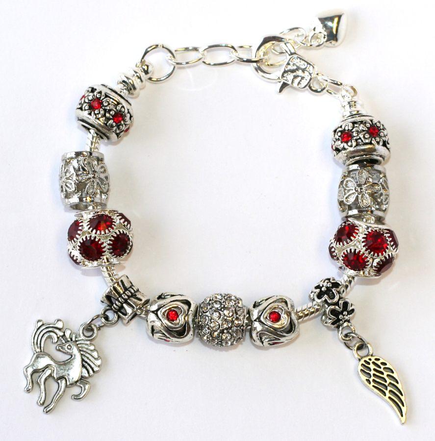 679a36d044b Náramek s korálky Fashion Jewerly (16-20 cm) - Červený Anděl ...