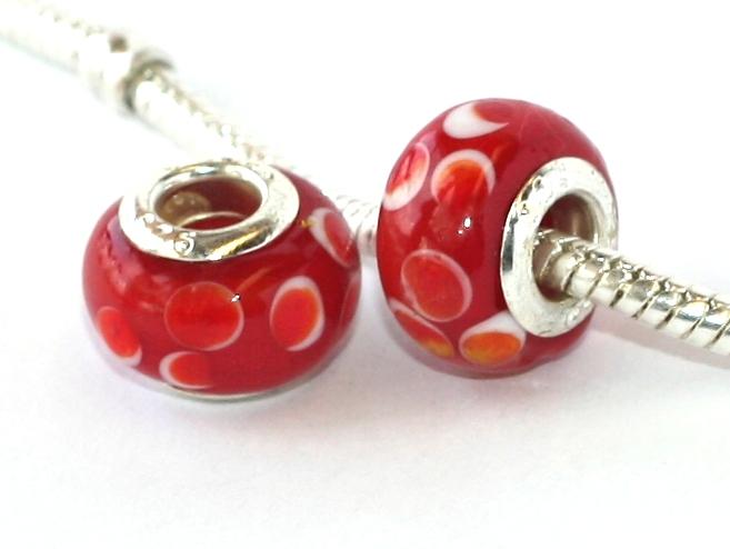 e45050335 Korálek na náramek Fashion Jewerly - Skleněný Happy Style s putíky 2105