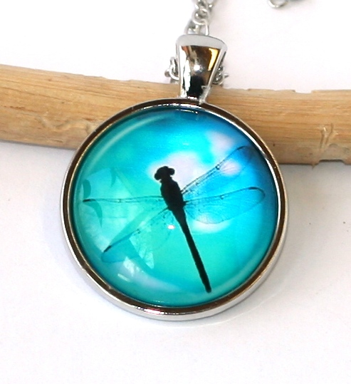 Řetízek Fashion Jewerly - Amulet Vážka v modrém, Dragonfly Blue 2209