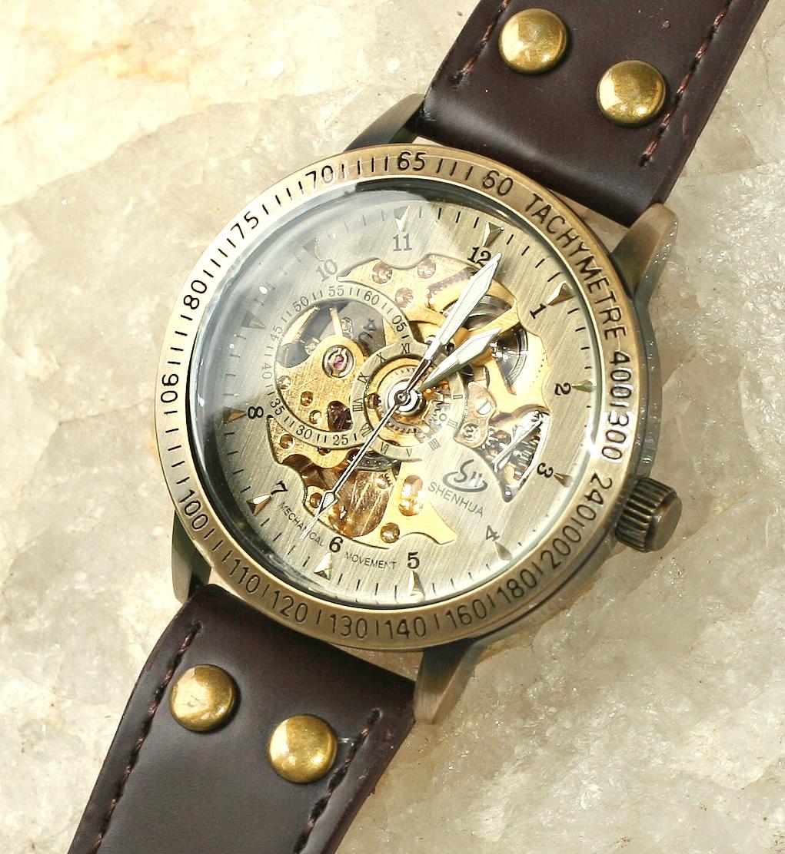 834c8db1a MR Fashion Jewerly Pánské hodinky Mechanické - Elegant men Extra, Retro  Unique, kožený pásek