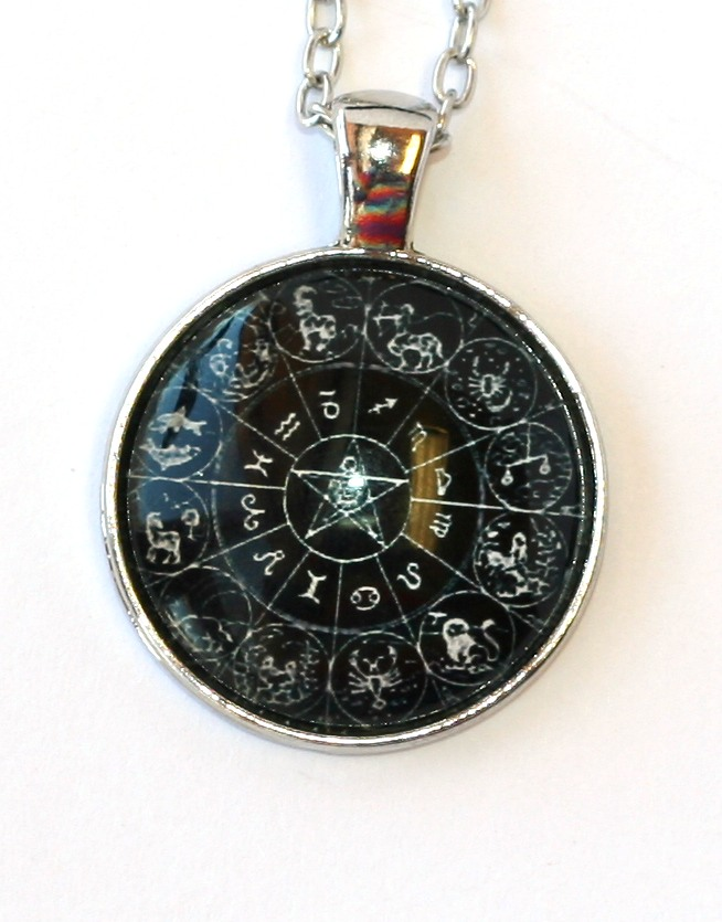 Řetízek Fashion Jewerly - Amulet 12 znamení zvěrokruhu, Pentagram 2056