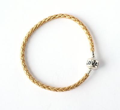 Náramek na korálky Fashion Jewerly (19 cm) - Zlatý LOVE 1022 ceee1679095