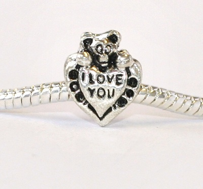Korálek Fashion Jewerly - Srdce I Love you s méďou 1425