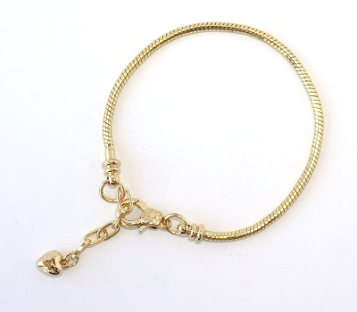 Náramek na korálky Fashion Jewerly (19 + 4 cm) - Zlatý had 1543 a8bf65cec74