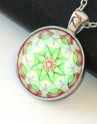 Řetízek Fashion Jewerly - Amulet Mandala, Květ, Lotos, Yoga, Namaste 2070