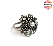 Prsten Fashion Jewerly - Retro shiny pearl flower 188