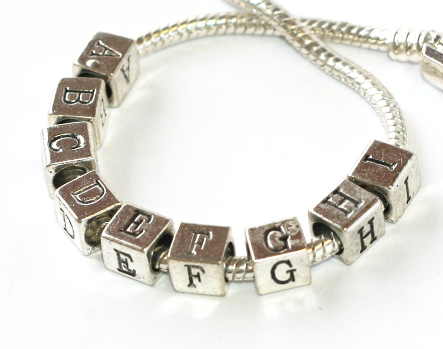 Korálek Fashion Jewerly - Písmeno, Abeceda, A B C D E F G H I, 2118