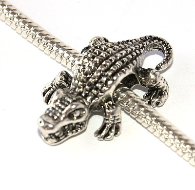 Korálek Fashion Jewerly - Drsný Krokodýl, Bažina a močál, Love Crocodile 2398