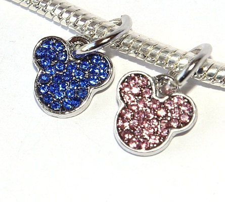 Korálek Fashion Jewerly - Přívěsek Myška Minnie Třpytivá, Mickey Mouse 2448