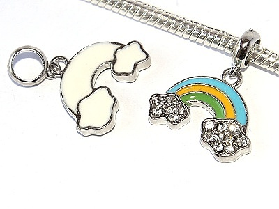 Korálek Fashion Jewerly - Přívěsek Duha s obláčky, Happy time, Love Rainbow 2451