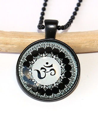 Řetízek Fashion Jewerly - Amulet Óm, Namaste, Yoga, Meditace 2542
