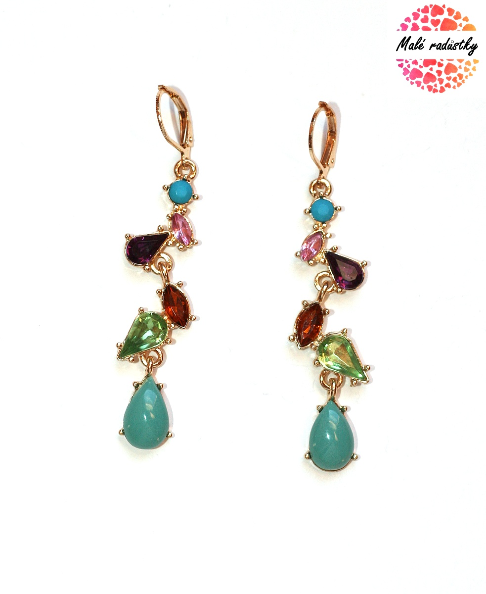 Náušnice Fashion Jewerly - Tear rainbow 124