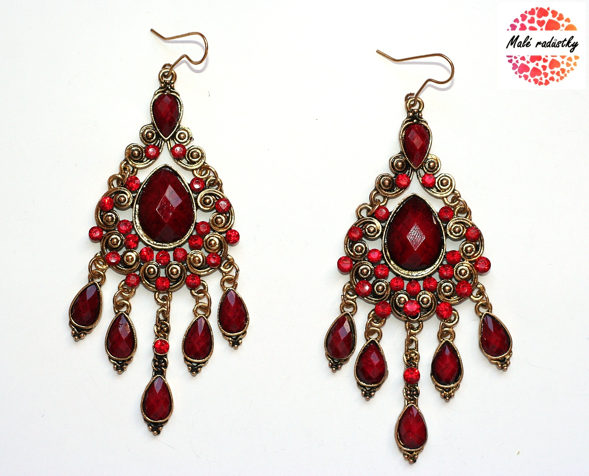 Náušnice Fashion Jewerly - Red orient tears 129