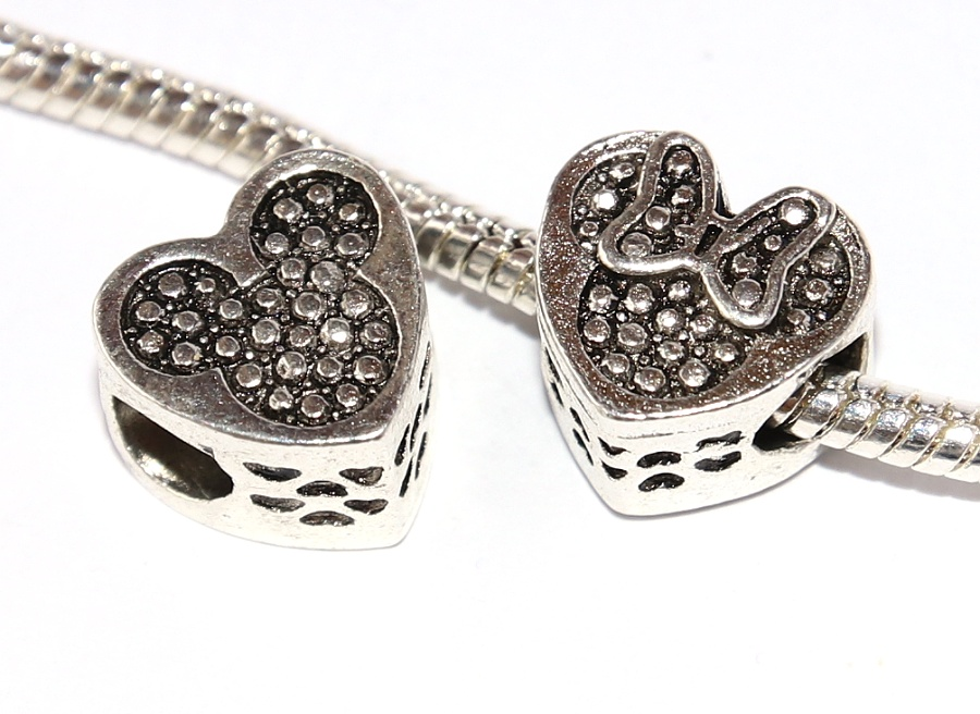 Korálek na náramek Fashion Jewerly - Myška s mašličkou, Mickey Love Minnie, Happy mouse 2647
