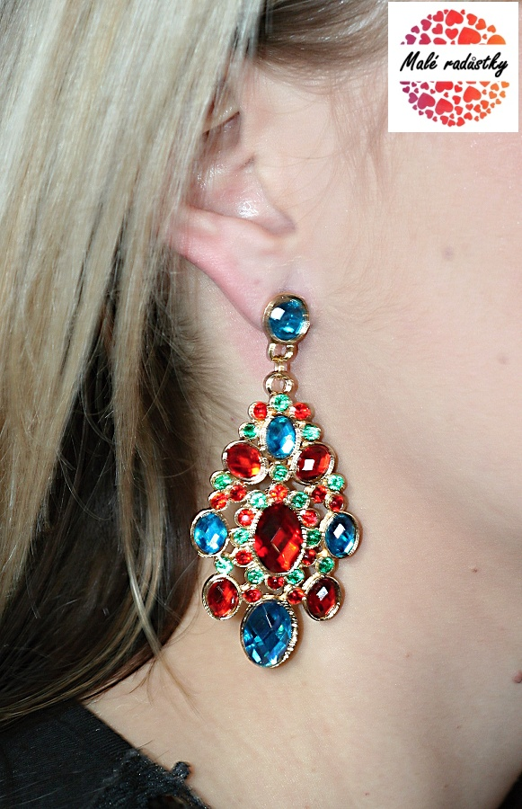 Náušnice Fashion Jewerly - Red and blue chic 149