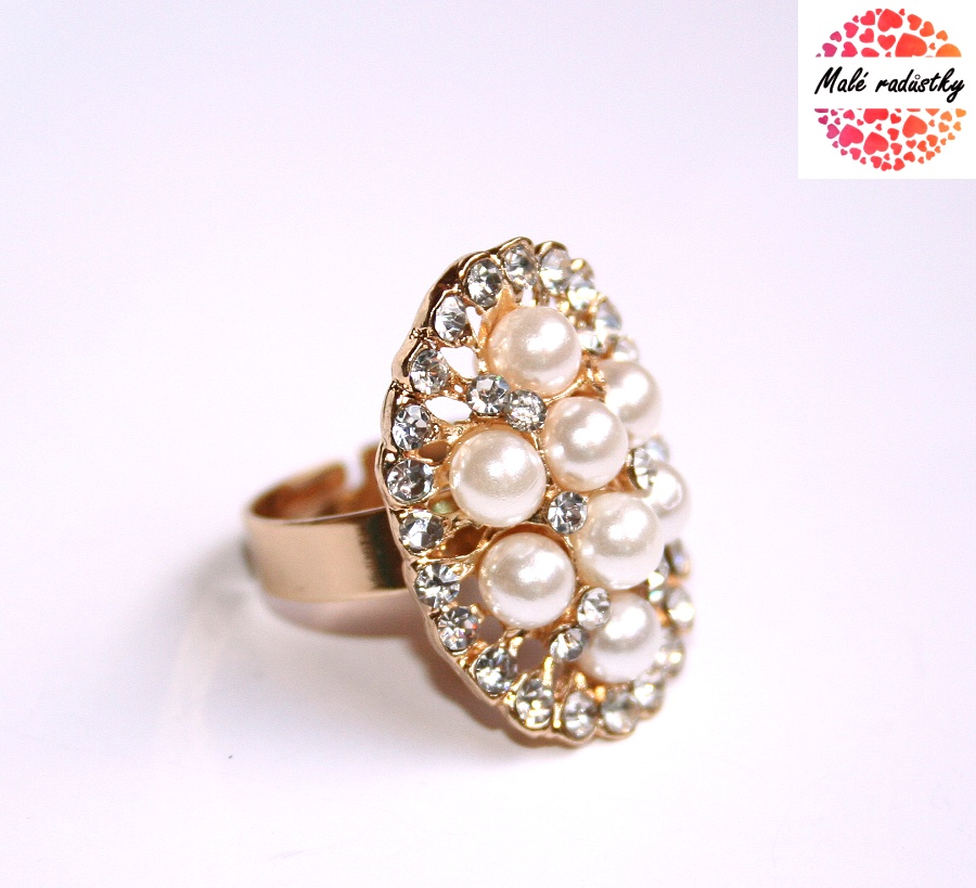 Prsten Fashion Jewerly - Pearl queen 182