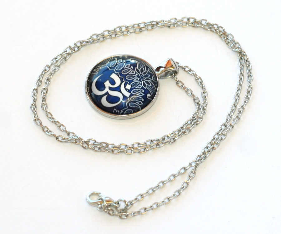Řetízek Fashion Jewerly - Amulet Óm, Mandala, Yoga, Meditace, Namaste 2064