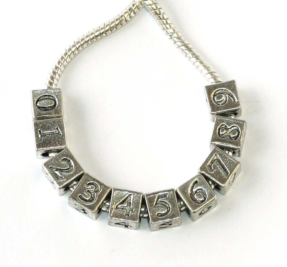 Korálek Fashion Jewerly - Číslo, Čísla, 0 1 2 3 4 5 6 7 8 9, 2121